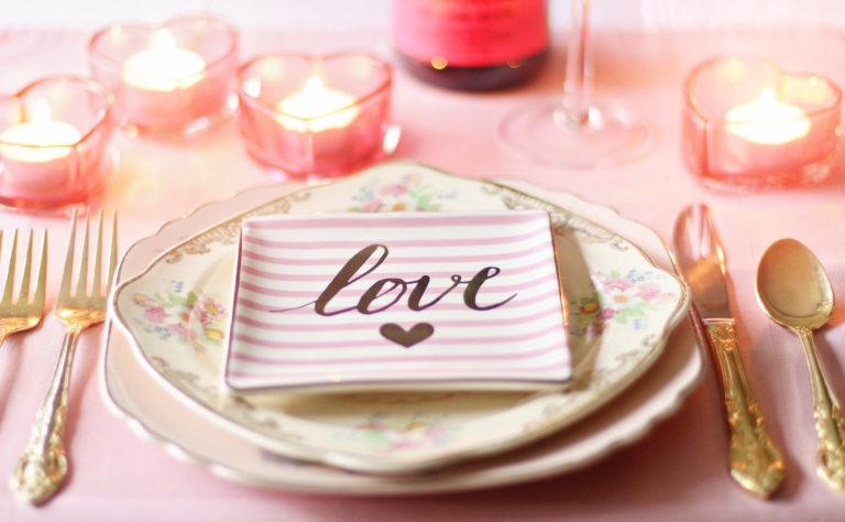 Valentinstag Romantikdinner